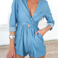 Self-Tie Back Romper