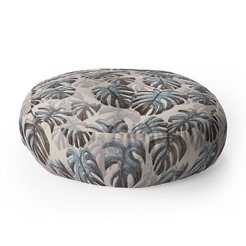 Dash and Ash Palm Springs Blues Floor Pillow Round