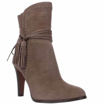 Coach Jessie Mid-Calf Tassel Boots, Light Feather Gray, 10 US / 40 EU
