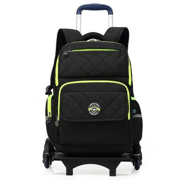 School Backpack SUN EIGHT Wheeled Backpack For Girls/Boy Trolley School Bags Wheeled Bag Kid Luggage 6 Wheels To Climb Stairs  AT_48_3