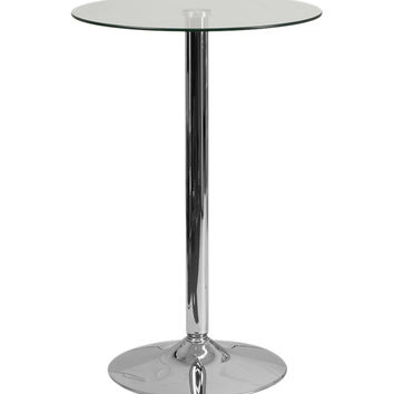 Flash Furniture 23.5'' Round Glass Table with 35.5''H Chrome Base [CH-6-GG]