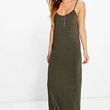 Kris Strappy Racer Back Maxi Dress | Boohoo