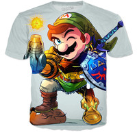 Mario,Zelda and super metroid t-shirt