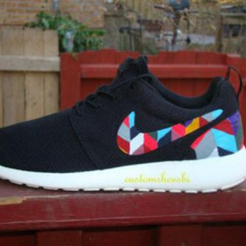 Custom Puzzle Tribal Color Nike Roshes