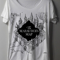 The Marauder's Map Shirt Harry Potter Map Shirts TShirt T Shirt Tee Shirts - Size M L