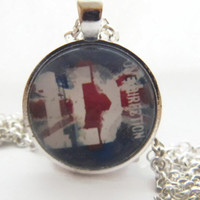 One Direction Pendant With Or With Out Chain , Glass Tile Pendant Necklace , Glass Bezel Art Photo Pendant Necklace