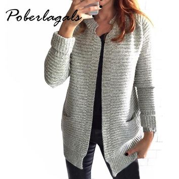 Fashion loose knitting cardigan