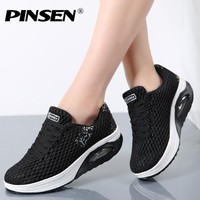 PINSEN Women Flat Platform Shoes Woman Moccasin zapatos mujer platform sandals Slip On Ladies Shoes Casual Flats Moccasins