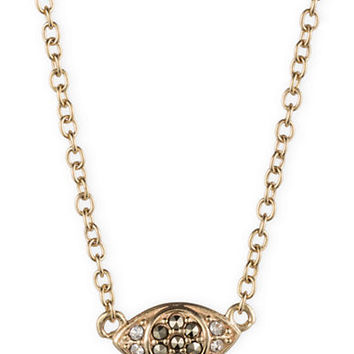 Judith Jack Gold Tone Crystal and Marcasite Geometric Pendant Necklace