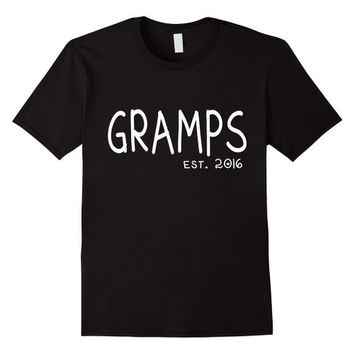New Gramps Shirt - Gramps Est. 2016 Grandparents Day Shirt