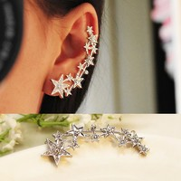 Accessories Stars Ear Clips Wrap Earring Studs