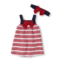 stars 'n stripes dress and headwrap set | US Store