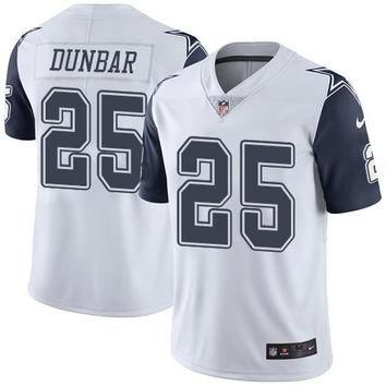 Dallas Cowboys #25 Lance Dunbar White Men's NFL Limited Rush Jersey