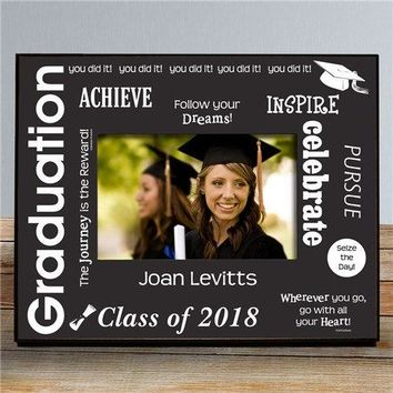 Free Engraving Personalized Custom Graduation Frame Class of 2018