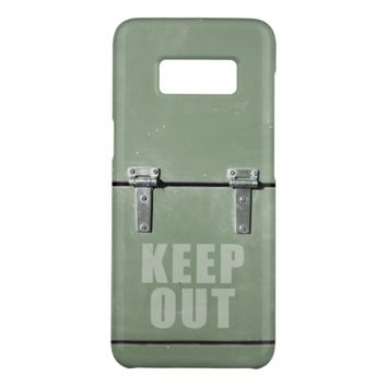 Keep Out sign on a metal door Case-Mate Samsung Galaxy S8 Case