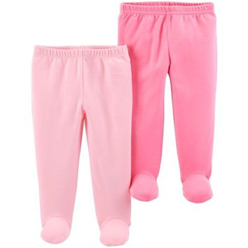 Footed Pants, 2-pack (Baby Girls) - Walmart.com