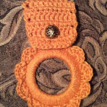 Kitchen towel hanger, dish towel hanger, gift, crochet towel hanger, RV towel hanger,