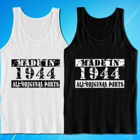 Made In 1944 Vintage 70th Birthday Gift Present tank top for mens and womens
