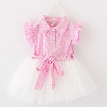 Summer Newborn Dress Bebe Kids,baby Dress Summer Cotton+lace Beautiful Dresses Casual Dress for Baby Clothing Free Shipping