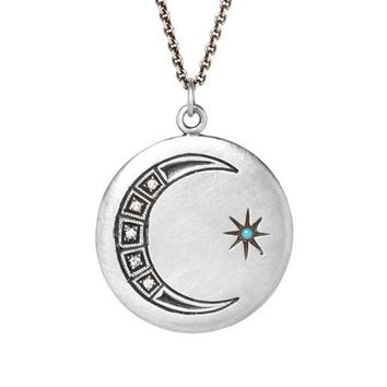 Astrid Diamond Moon Necklace