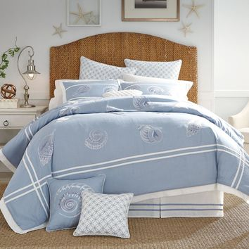 Croscill Cape May 4PC Embroidered Comforter Set