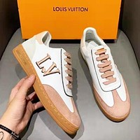 LV Louis Vuitton Fashion Women Casual Leather Flat Sports Shoes Sneakers