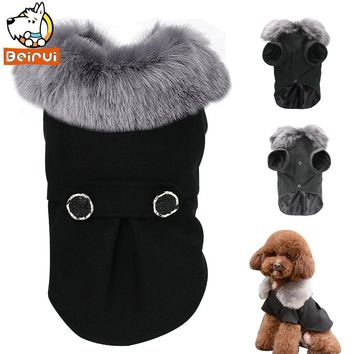 Winter Dog Clothes Pug Pet Cat Jacket Coat Hooded Clothes for Dog Padded Puppy Apparel for Small Medium Dogs Petsroupa cachorro