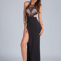 Lace Get On Top Of It Halter Maxi