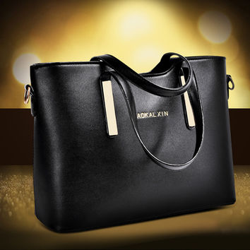 Luxury Simple Design PU Leather Bags Shoulder Bags [6582286791]