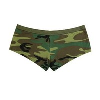 Women's Woodland Camo Booty Shorts - Available in Several Sizes