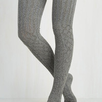 Carte Banff Thigh Highs in Smoke Size OS by ModCloth