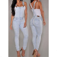 Women's Fashion Summer Sexy Empire Waist Slim Fit Casual Baggy Loose Jeans Denim Overalls Pants Jumpsuit Long Rompers = 1929871748