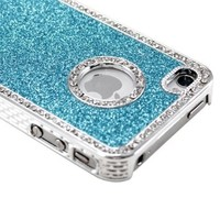 Light Blue Luxury Bling Glitter Di...