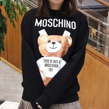 MOSCHINO Fashion  Sleeve Top Sweater Pullover