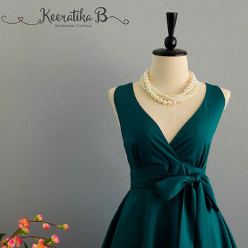My Lady II Spring Summer Sundress Dress Pine Green Party Dress Pine Green Bridesmaid Dress Garden Party Sundress Green Dresses XS-XL