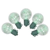 Vickerman Color Changing Multicolored LED G40 Tinsel Christmas Lights with Green Wire, Set of 25