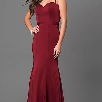 Long Elegant Prom Dress by Dave and Johnny