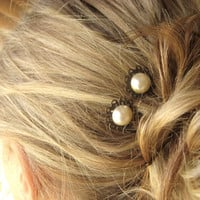 Victorian Pearl Bridal Hair Pins  bobby pins by littlewhitechapel