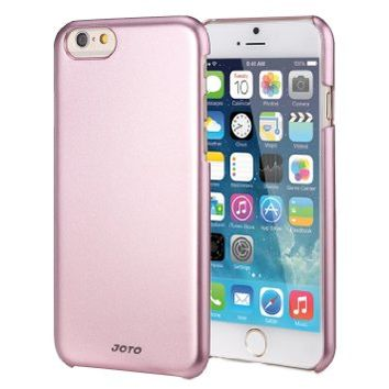 "JOTO iPhone 6 4.7 Case - Slim Thin Fit Hard Cover Case Exclusive for Apple iPhone 6 4.7"" (2014), Premium Metal effect coating hard case for iPhone 6 (Pink)"