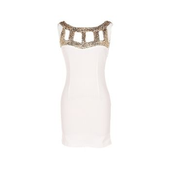 Sequin Cut Out Dress - Kely Clothing