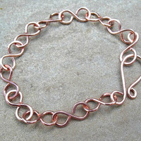 Copper Bracelet Bright Finish Copper Wire by ZorroPlateado on Etsy