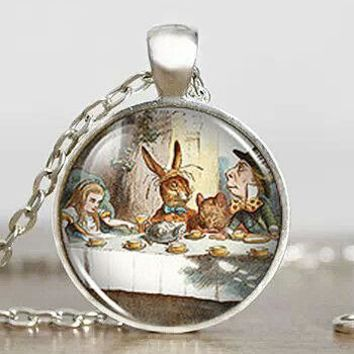 Steampunk US Movie Alice in Wonderland Fantasy Vintage Pendant Necklace 1pcs/lot mens handmade jewelry dr who chain