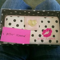 Betsey johnson polka dot wallet