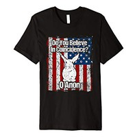 Q Anon Do You Believe in Coincidence American Flag T-shirt