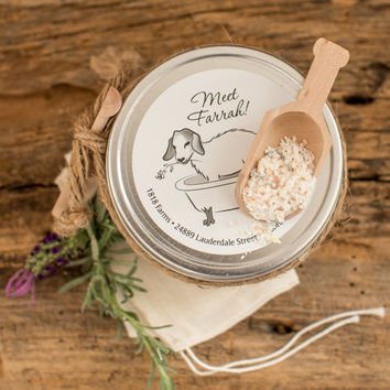 Lavender Goat's Milk Bath Tea Tin - 1818 Farms - All Natural Bath Soak - Lavender Essential Oil - Goat's Milk Product