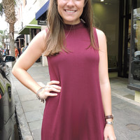 Garnet Mock Neck Dress
