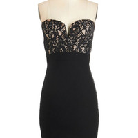 ModCloth Short Length Strapless Sheath Sultry and Pepper Dress
