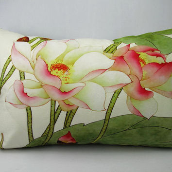 Elegant Rectangle Velvet fabric  throw pillowcases cushion covers floral design on both sides