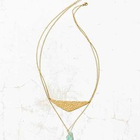 Swinging Jade Layer Necklace