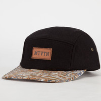 Motivation Leather Patch Mens 5 Panel Hat Black Combo One Size For Men 23947314901